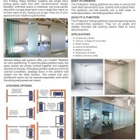 Folding Glass Partition